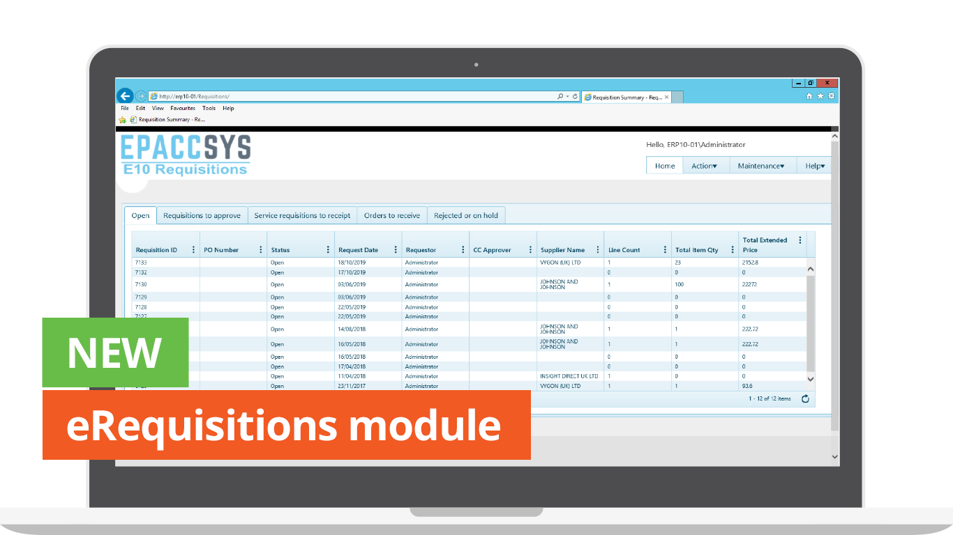 eRequisitions Module For Epicor From Epaccsys